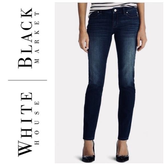 White House Black Market Denim - WHITE HOUSE BLACK MARKET SLIM LEG JEANS SZ 0S